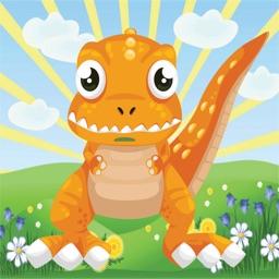Baby Dinosaur Running Hill