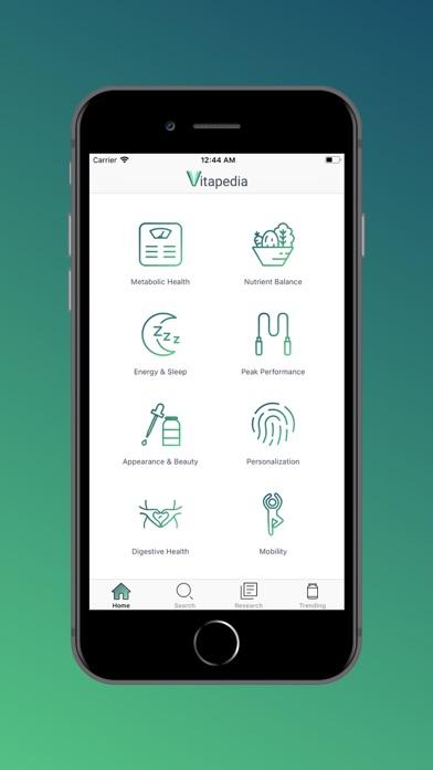 Vitamins App screenshot one