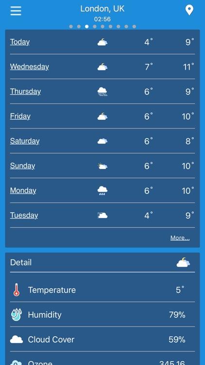Weather forecast - radar & map screenshot-3