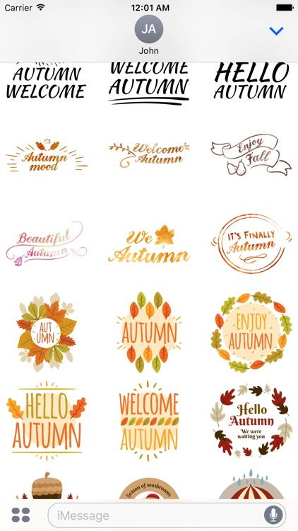 Autumn Greetings - Say it With Beautiful Stickers screenshot-4
