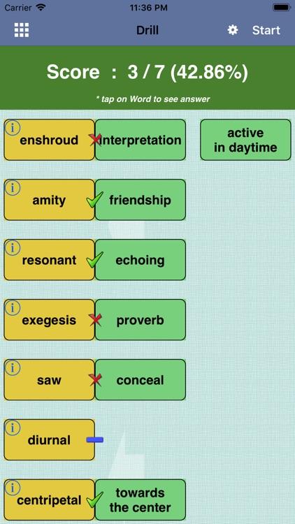 Vocabulary for GRE ® Test lite screenshot-3