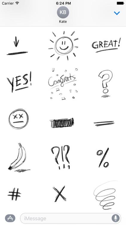 Pencil Doodles Sticker Pack