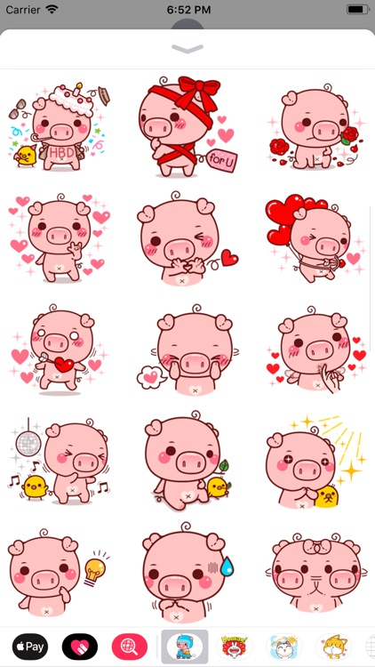 Pinky Pig Sticker screenshot-2