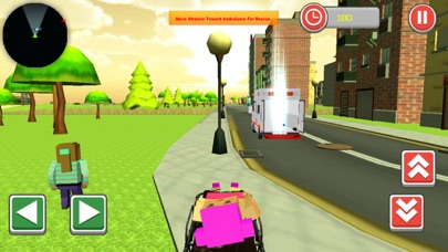 911 Blocky Ambulance Sim Game screenshot 3