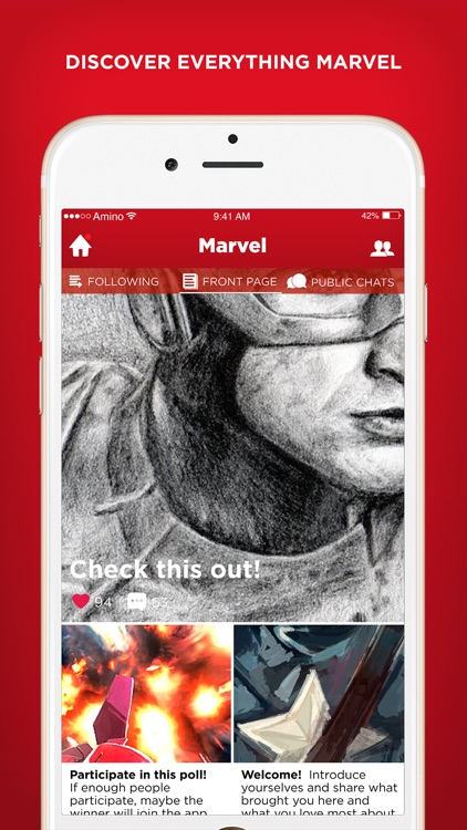 Amino for Marvel Comics