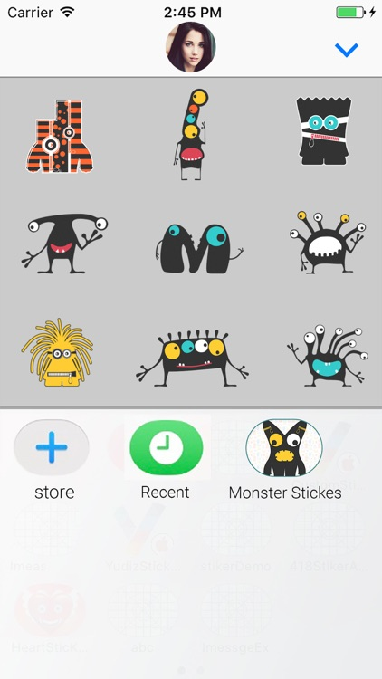 Cute Monster Animated Stickers screenshot-3