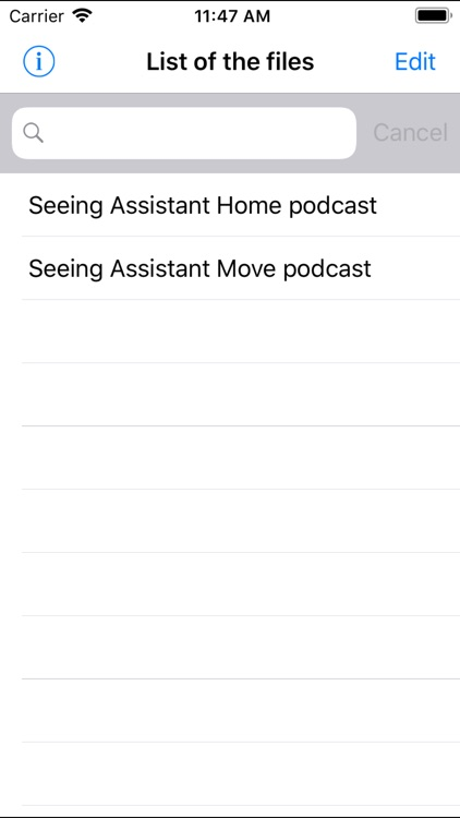 Seeing Assistant Audio Lite
