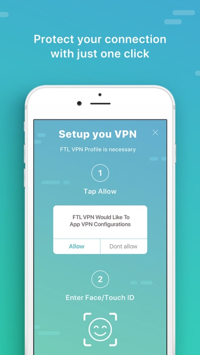 FTL VPN - Privacy & Security Screenshot on iOS