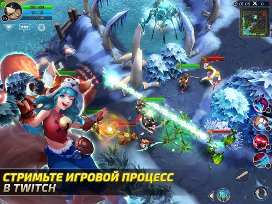 Скачать игру Heroes of Order & Chaos — мобильная MOBA!