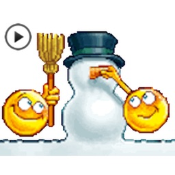 Animated Winter Emoij Sticker