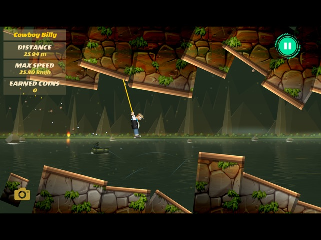 Rope Heroes : Hole Runner Game Screenshot