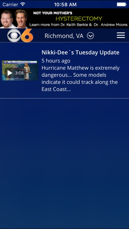 CBS 6 Weather - Richmond, Va. screenshot-3