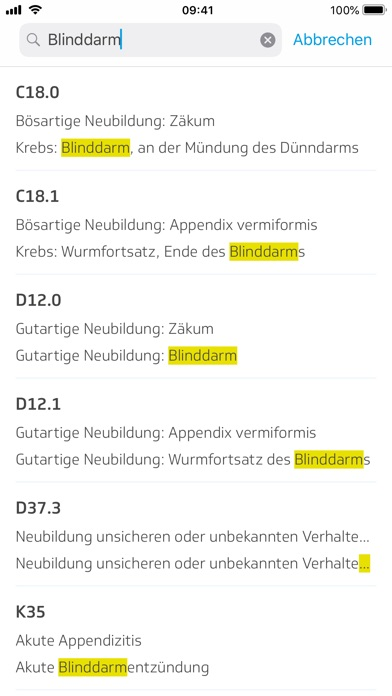 Screenshot for ICD-10 Diagnoseauskunft in Germany App Store