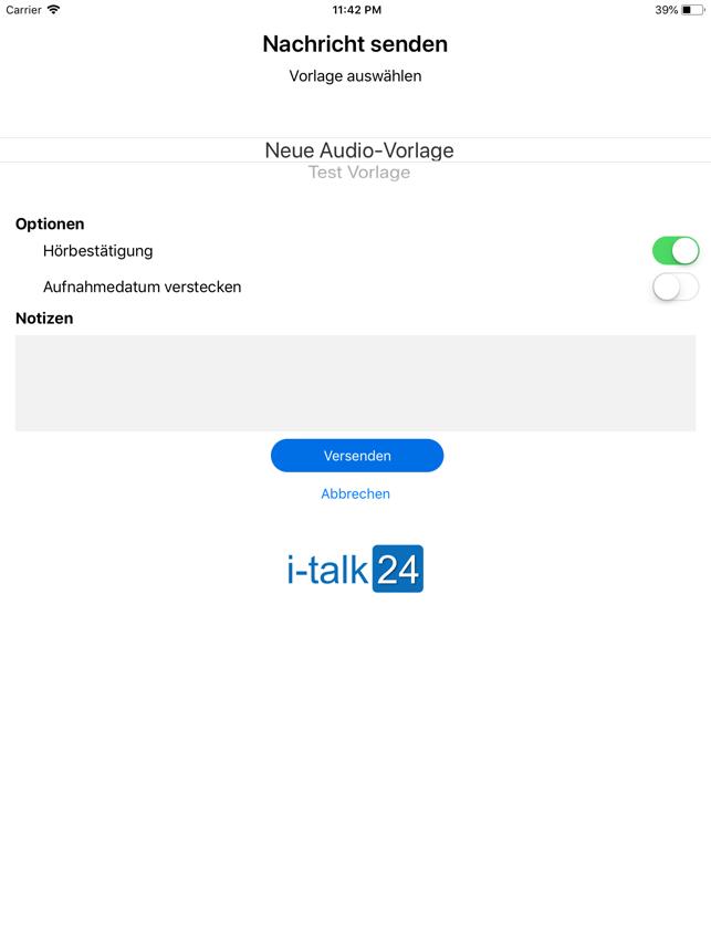 i-talk24-App Screenshot