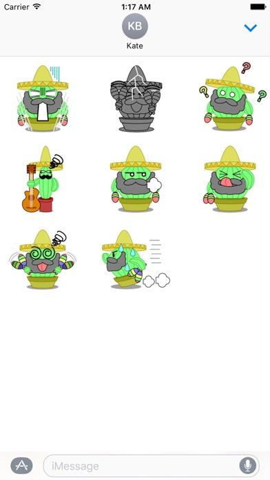 Mexico Cactus Music Band Emoji screenshot 5