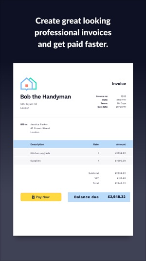 Invoice Go Invoice Quotes On The App Store - How to create an invoice template in word app store online