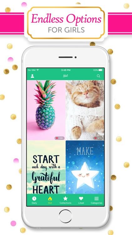Girly Wallpapers & Backgrounds screenshot-3