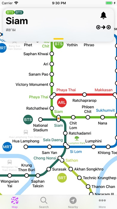 Bangkok Metro Transit Map for Windows