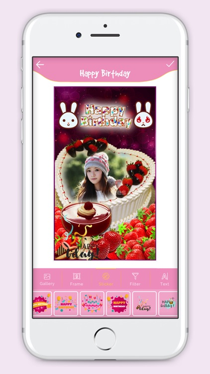 Happy Birthday Cake Frame screenshot-3