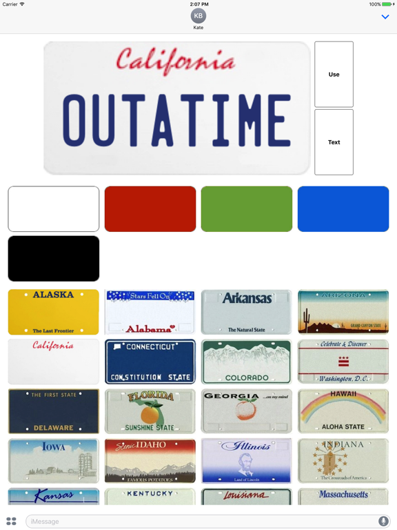 Vanity License Plate Maker For Imessage App Price Drops