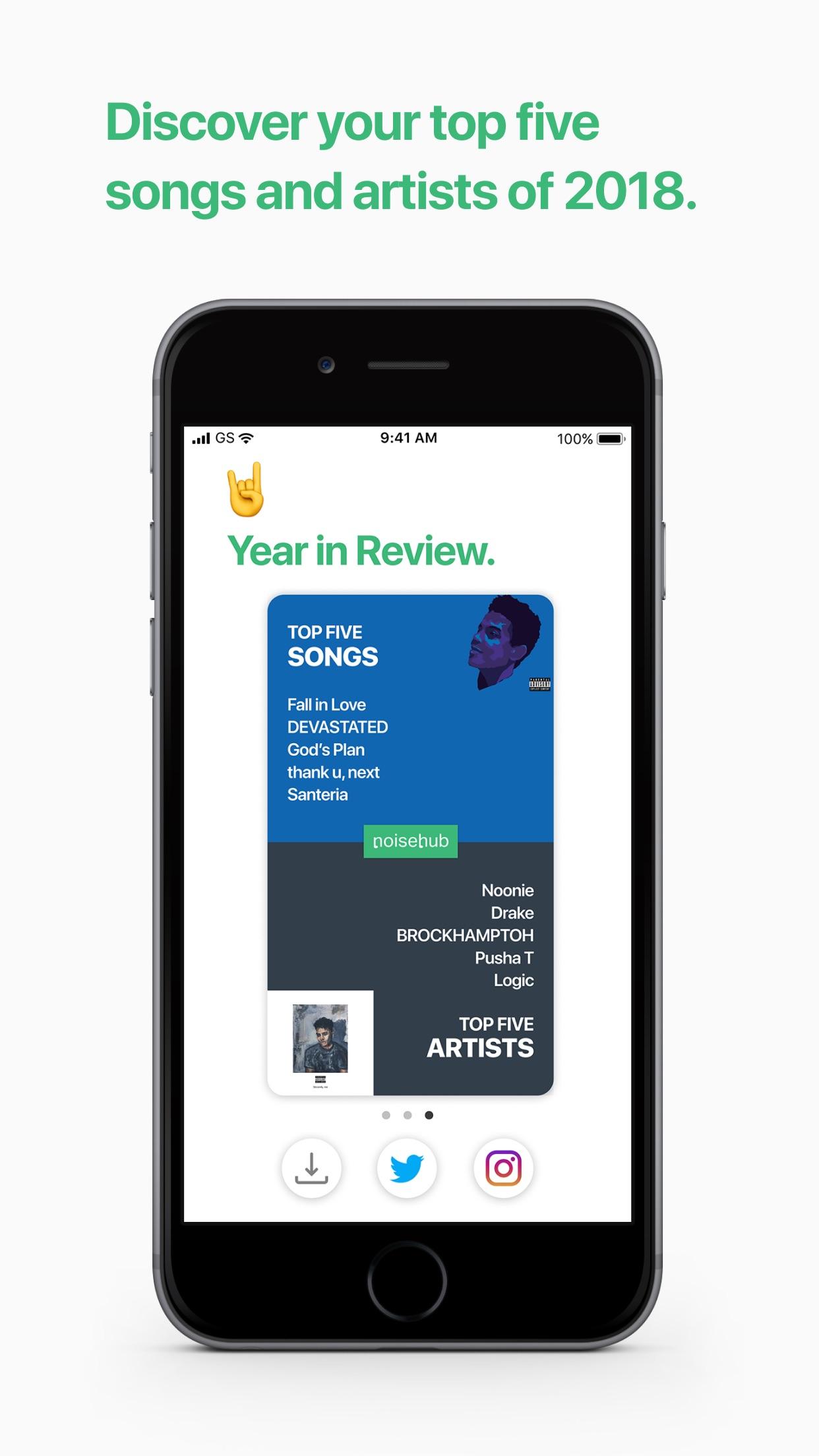 Screenshot do app Music Year in Review