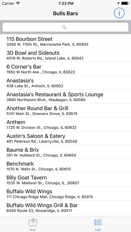 Bulls Bars Official List