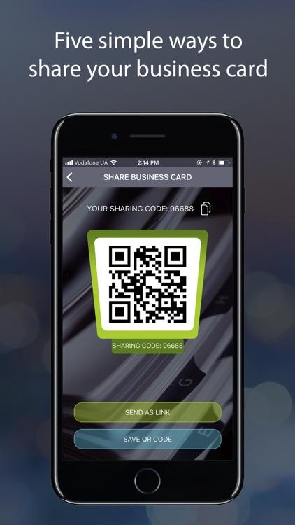FlyCard digital business cards screenshot-4