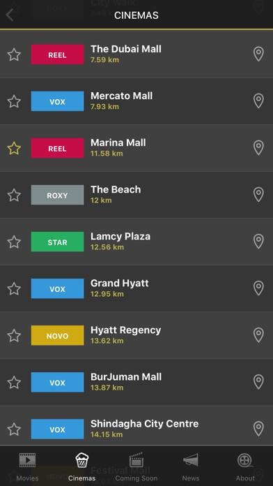 Screenshot for UAE Cinema Showtimes in United Arab Emirates App Store