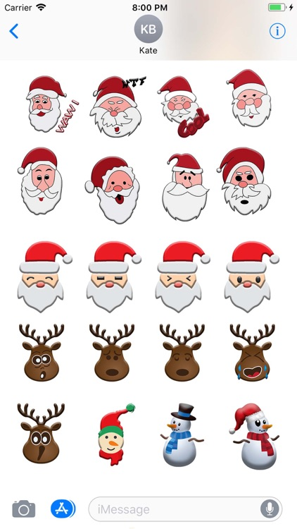 Christmas Moji & Animated Emoj