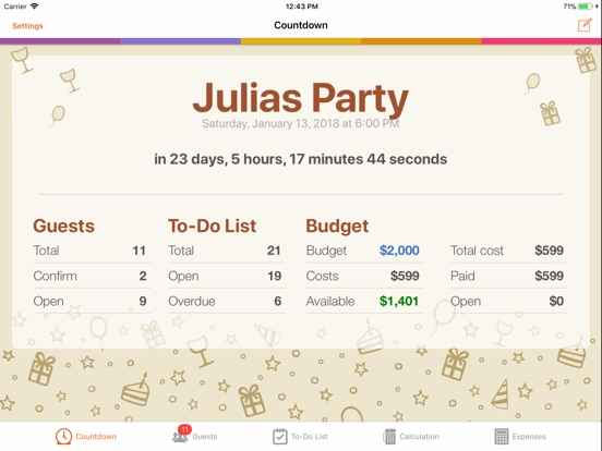 birthday party planner app price drops