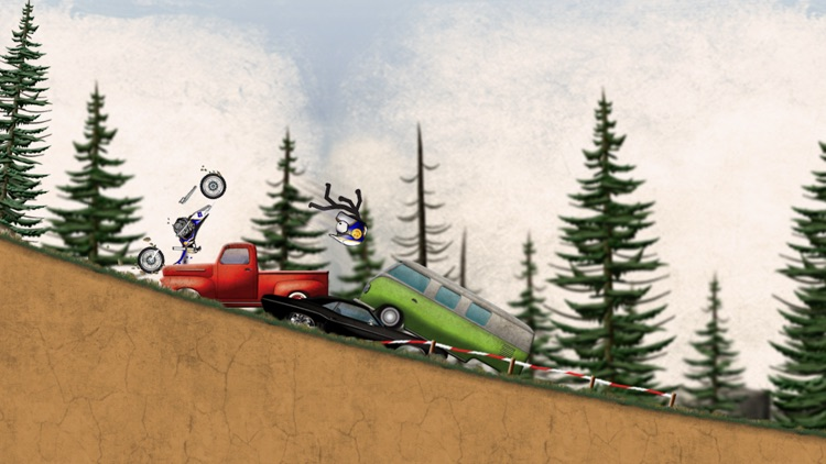 Stickman Downhill - Motocross screenshot-4