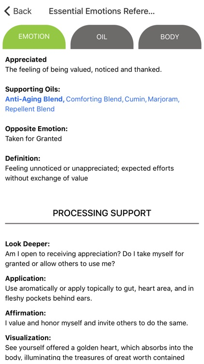 Essential Emotions Reference
