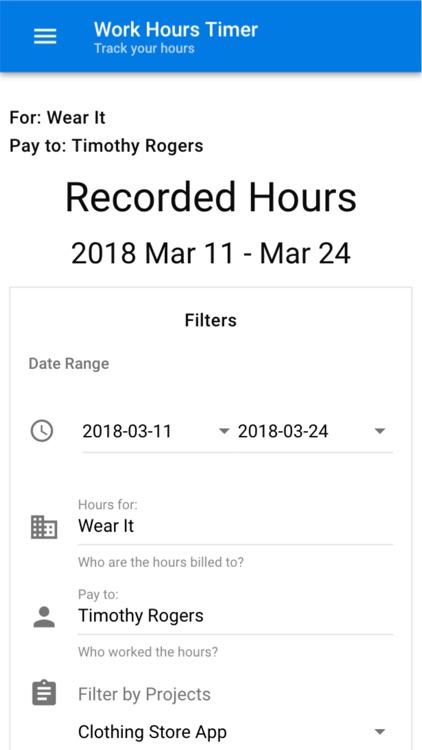 Work Hours Timer screenshot-4