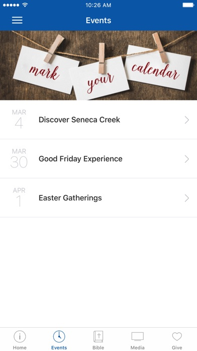 Seneca Creek Community Church screenshot 2