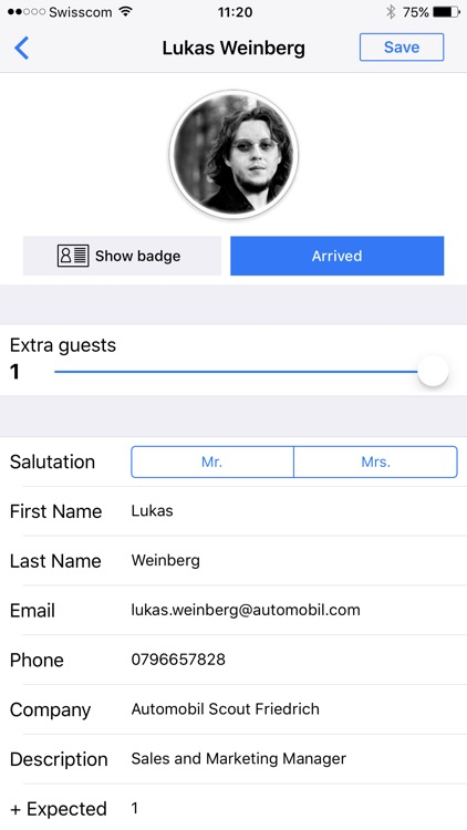 Guest List App for Events