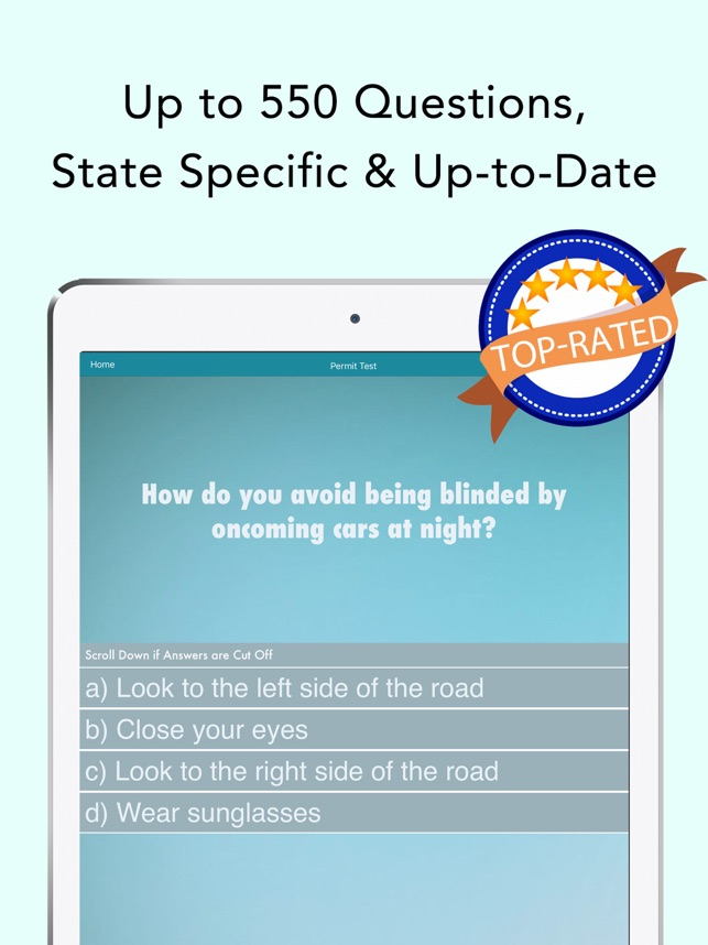 dmv hub permit practice test on the app store