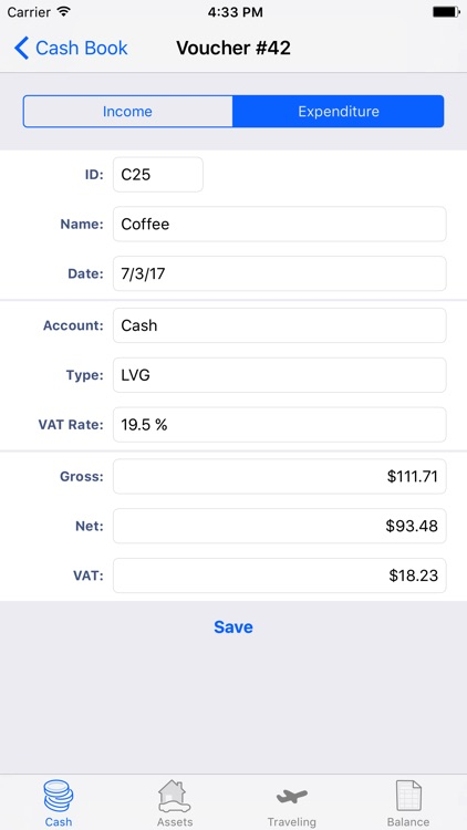 eaGeier - accounting on cash basis screenshot-1