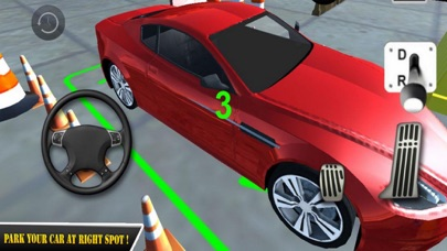 Red Car Parking Skill 18 screenshot four