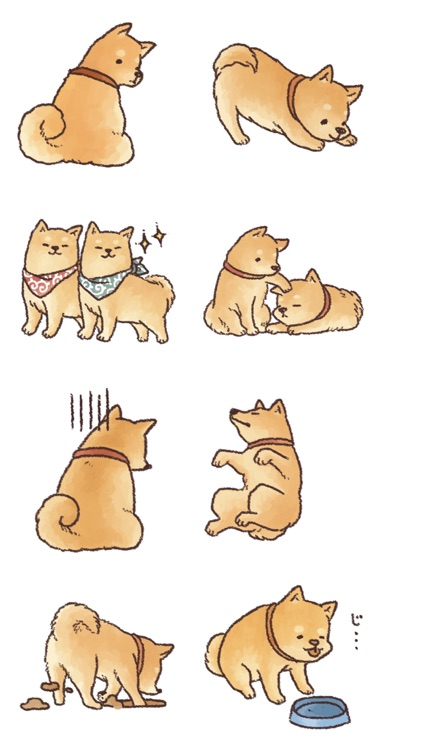 Animated Puppy Stickers!