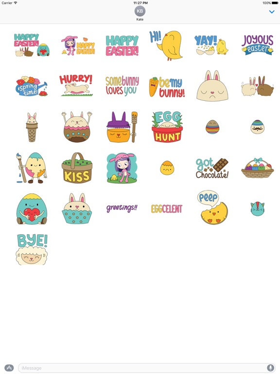Happy Easter Colorful Sticker screenshot 4
