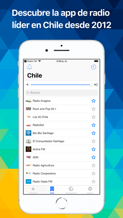 Screenshot for Radio Chile - Radios en vivo in Chile App Store