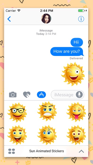 Sun Face : Animated Stickers screenshot two