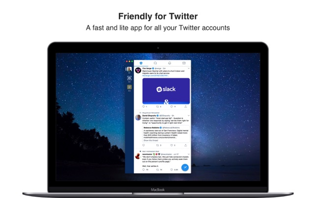 Friendly for Twitter on the Mac App Store