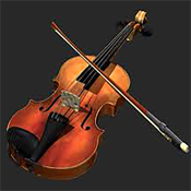 violin pro musical instrument with accord and rhythm free icon