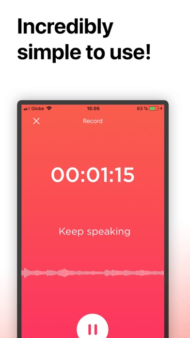 Transcribe: Voice to Text screenshot one