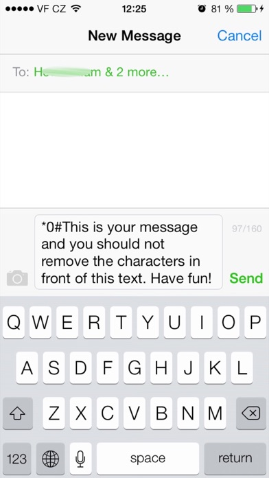 送信完了メール付きグループショートメール screenshot1