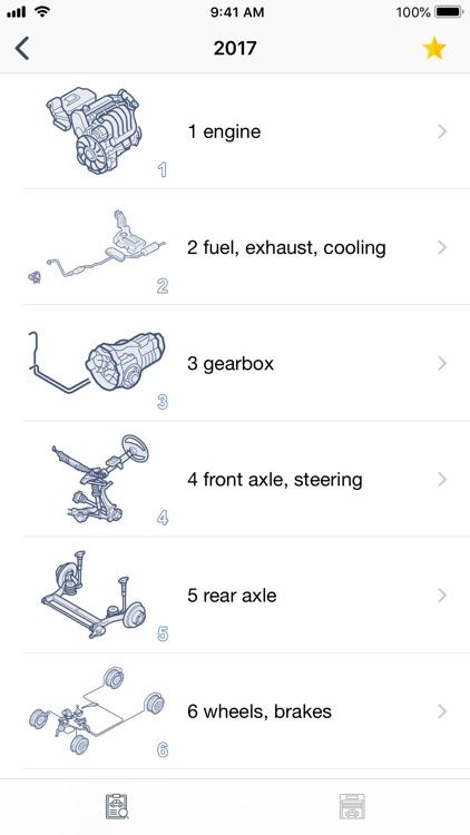 Car parts for Skoda diagrams screenshot-5