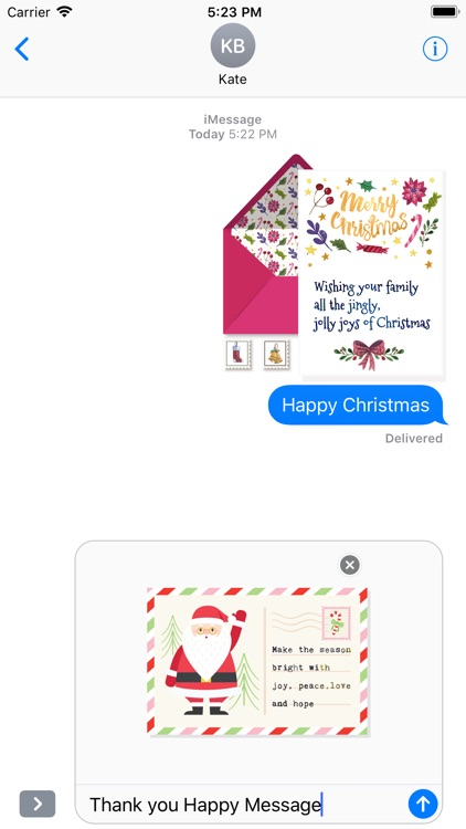 Christmas Letter with Message screenshot-4