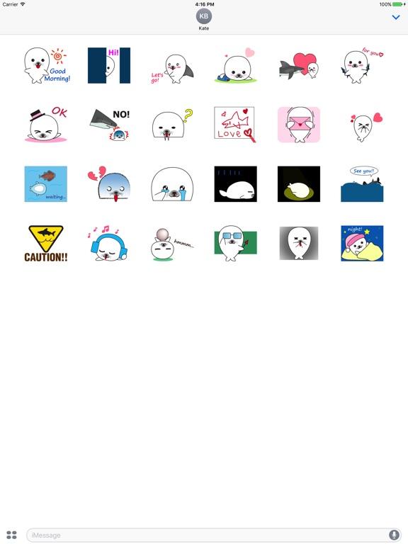 Animated Lovely Seal Sticker screenshot 3