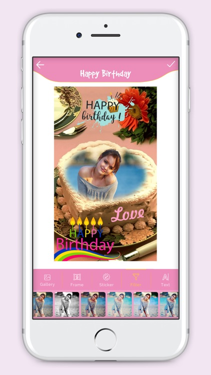 Happy Birthday Cake Frame screenshot-4